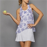 Denise Cronwall Tennis Dress - Serenity Print/White