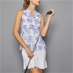 Denise Cronwall Golf Dress - Serenity Print/White