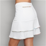 Denise Cronwall Deco White Golf Skort