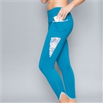 Denise Cronwall Inverted Pocket Trista Legging Nordica Blue