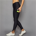 Denise Cronwall Zipper Legging - Black