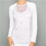 Denise Cronwall Long Sleeve Sheer Fitness Top - Sienna