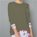 Denise Cronwall Long Sleeve Top - Army of Lovers, Green