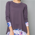 Denise Cronwall Long Sleeve Top - Mystical Violet