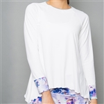 Denise Cronwall Long Sleeve Top - Mystical, White