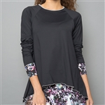Denise Cronwall Long Sleeve Top - Vivid Dark, Black
