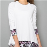 Denise Cronwall Long Sleeve Top - Vivid Dark, White