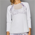 Denise Cronwall Sheer Body Top - Rhapsody Print