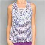 Denise Cronwall Mosaic Sheer Layer Fitness Top