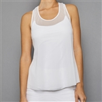 Denise Cronwall Sheer Layer Top - Pure White