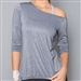 Denise Cronwall Shimmer Pullover - Navy/Silver