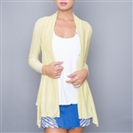 Denise Cronwall Yellow Shimmer Cardigan