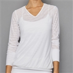 Denise Cronwall V-Neck Pullover - Pure White