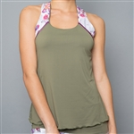 Denise Cronwall Racerback Top - Army of Lovers, Green