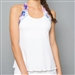 Denise Cronwall Racerback Top - Mystical, White
