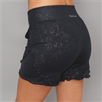 Denise Cronwall Villia Black Embossed Front Pocket Short