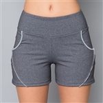 Denise Cronwall Wyn Heather Front Pocket Short