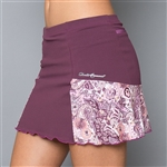 Denise Cronwall Pocket Tennis Skort - Purple/Mulberry