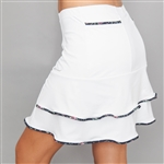 Denise Cronwall Villa White Golf Skort