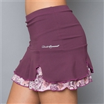 Denise Cronwall Luna Tennis Skort - Mulberry Purple
