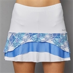 Denise Cronwall Tier Skort - White/Scotia Print
