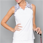 Denise Cronwall Mosaic Sleeveless Polo