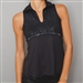 Denise Cronwall Sleeveless Villa Black Polo