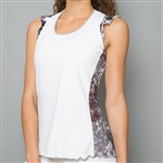 Denise Cronwall Tank Top, Vivid Dark, White