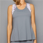 Denise Cronwall Tank Top - Grey w/ Rhapsody Print
