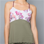 Denise Cronwall Spaghetti Strap Top - Army of Lovers Green