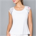 Denise Cronwall Edge Cap Sleeve Top