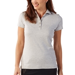 Bobby Jones Supreme Cotton Solid Heather Grey Polo