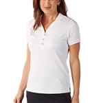 Bobby Jones Tech White Short Sleeve Polo
