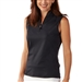 Bobby Jones Tech Sleeveless Zip Polo - Black