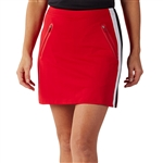 Bobby Jones Lotus Stripe Tech Golf Skort - Rio Red