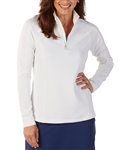 Bobby Jones Madeleine 1/4 Zip Mock - White