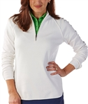 Bobby Jones Leaderboard Quarter Zip Pullover - White