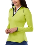 Bobby Jones Pima Cotton Quarter Zip Pullover Garden Green