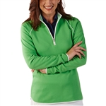 Bobby Jones Leaderboard Quarter Zip Pullover - Turf