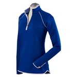 Bobby Jones Leaderboard Quarter Zip Pullover - Marina Blue