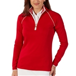 Bobby Jones Leaderboard Cambridge Red Quarter Zip Pullover