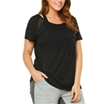 SHAPE PLUS Bailey Black/White Tee