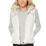 SHAPE Courtship Elements Puffa Vest - Winter White
