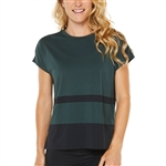 SHAPE Boxy Mesh Tee - Green Gables