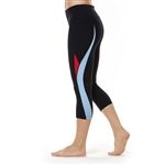 SHAPE Curved Capri - Black Color Block