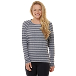 SHAPE Long Sleeve Dolman Tee - Heather Grey Stripe