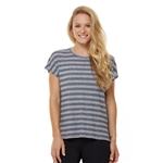 SHAPE Boxy Tee - Heather Grey Stripe