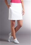 Swing Control Basic Tee Time Golf Skort - White