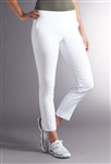 Swing Control Basic Eagle Ankle Pant - White