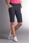 Swing Control Eyelet Masters Golf Short - Black
